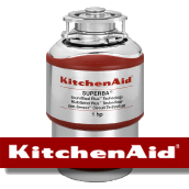 our BUrlingame garbage disposal repair team reccomends the installation of KitchenAid brand